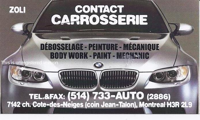 Contact Carosserie