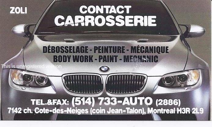 Contact Carosserie